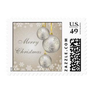 Bolas del navidad del oro del platino y franqueo d