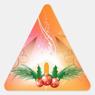 Bolas del navidad pegatinas de trianguladas