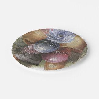Bolas del navidad platos de papel
