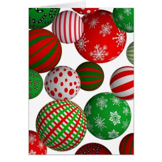 Bolas del navidad tarjeta de felicitación