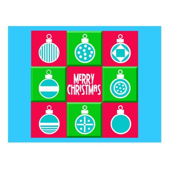 Bolas del navidad tarjeta postal