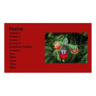 Bolas del navidad tarjetas de visita