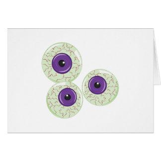 Bolas del ojo tarjeta de felicitación