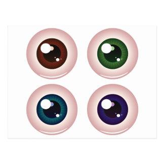 Bolas del ojo tarjeta postal