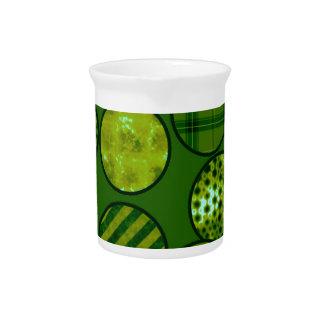 Bolas del remiendo, verdes jarra