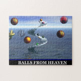 Bolas del rompecabezas del vintage del cielo
