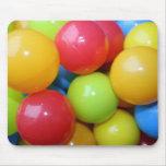 Bolas en cojín de ratón clasificado de los colores tapete de ratones