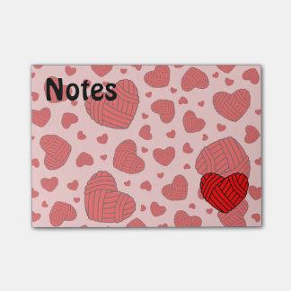 Bolas en forma de corazón del lunar del hilado notas post-it®