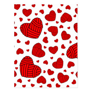 Bolas en forma de corazón del lunar del hilado postal