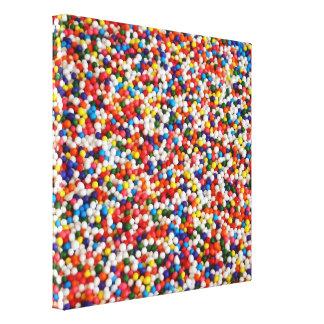 Bolas envueltas del caramelo de la lona impresión en lona estirada