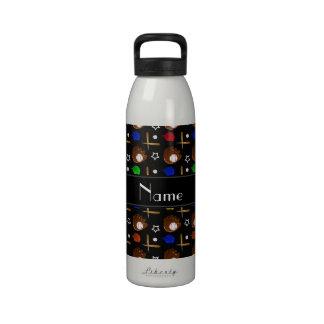 Bolas negras conocidas personalizadas de los botella de beber