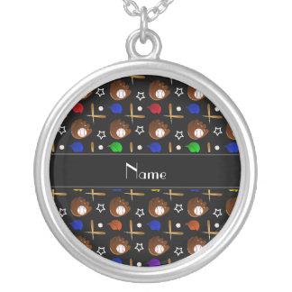 Bolas negras conocidas personalizadas de los joyería