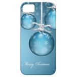 bolas preciosas azules heladas de Navidad de las iPhone 5 Funda