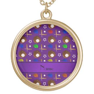 Bolas púrpuras conocidas personalizadas de los pendientes