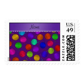 Bolas púrpuras conocidas personalizadas del hilado sello