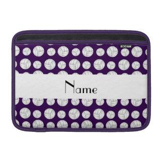 Bolas púrpuras conocidas personalizadas del voleib funda macbook air