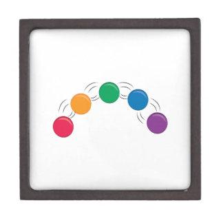 Bolas que hacen juegos malabares caja de recuerdo de calidad