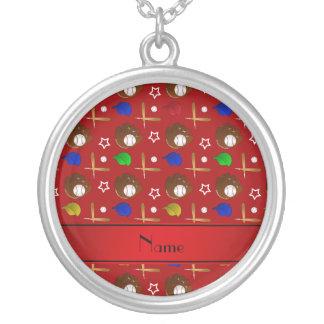 Bolas rojas conocidas personalizadas de los gorras collares