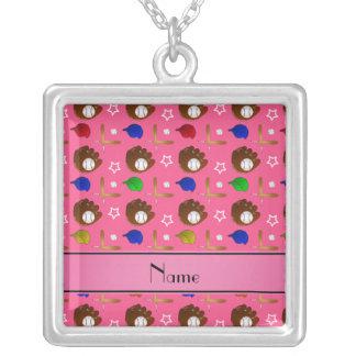 Bolas rosadas conocidas personalizadas de los pendiente personalizado