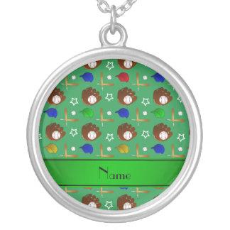 Bolas verdes conocidas personalizadas de los joyerías