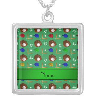 Bolas verdes conocidas personalizadas de los collar personalizado