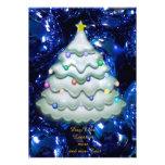 Bolas y árbol del navidad, azules