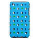 bolas y estrellas de fútbol del azul de cielo iPod touch Case-Mate cobertura