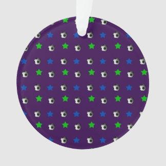 Bolas y estrellas púrpuras de fútbol
