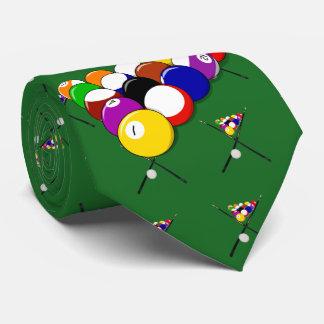 Bolas y señales de piscina del billar corbata personalizada