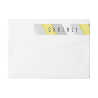 Bold 2017 Cheers New Year Holiday Address Labels