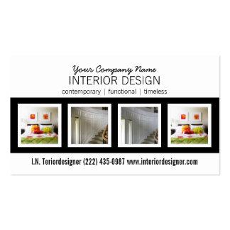 Bold 4 Photo Interior Designer Business Card