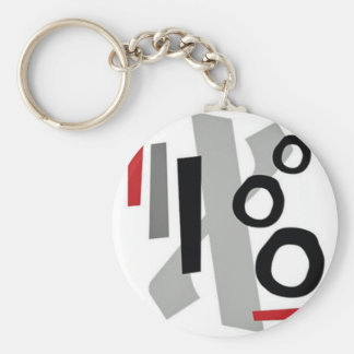 Bold Abstract Design Keychain