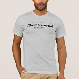BOLD! Add @YourName RU folowing me mens WHT T-Shirt