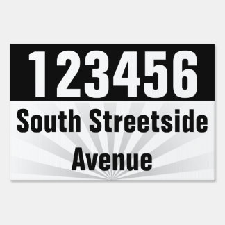 Bold Address/Lot/Street Number Yard Sign