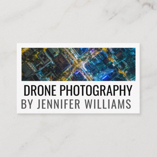 Bold aerial drone photography business card zazzle bold aerial drone photography business card reheart Images