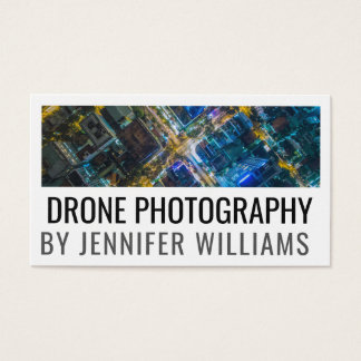 Bold Aerial Drone Photography Business Card