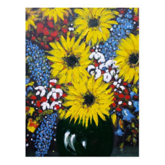 Bold and Beautiful Flowers Postcard