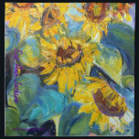 "Bold and Beautiful Sunflowers, Sue Ann Jackson Napkin<br><div class=""desc"">Bold and beautiful sunflowers against a blue sky from original art by Sue Ann Jackson,  www.sueannjacksonllc.com,  www.zazzle.com/sueannjacksonart*</div>"