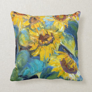 Bold and Beautiful Sunflowers, Sue Ann Jackson Throw Pillow
