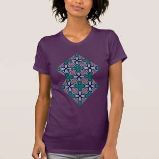 Bold and Beautiful Teal Fractal Design T-Shirt