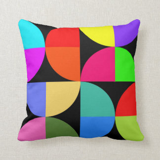 Bold and bright colourful throw pillow