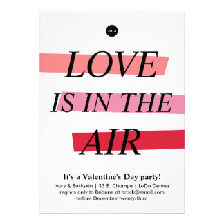 Bold and Bright Valentine s Day Party Invitation