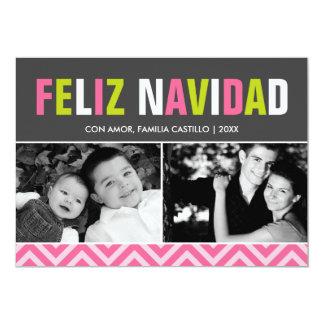 Bold and Colorful Feliz Navidad Photo Card