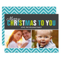 Bold and Colorful Merry Christmas Cards