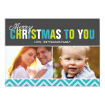 Bold and Colorful Merry Christmas Cards Announcement
