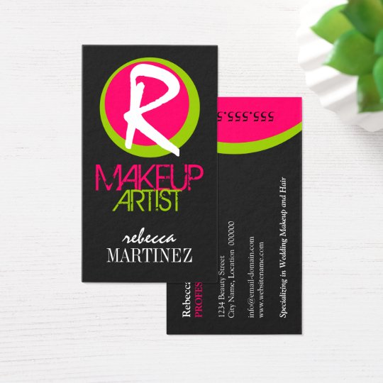 Bold and Colorful Monogra Business Card
