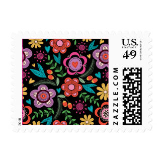 Bold and Contemporary Flowers Postage - srf