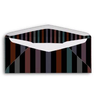 Bold and Dark Modern Stripes Envelopes