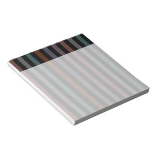 Bold and Dark Modern Stripes Notepad