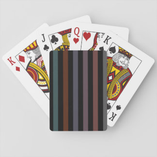Bold and Dark Modern Stripes Playing Cards